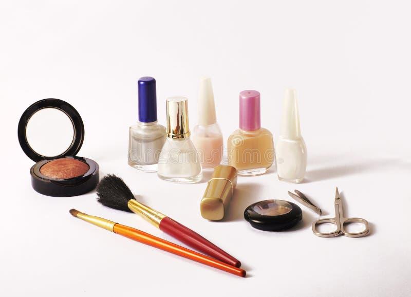 Items del maquillaje imagen de archivo libre de regalías