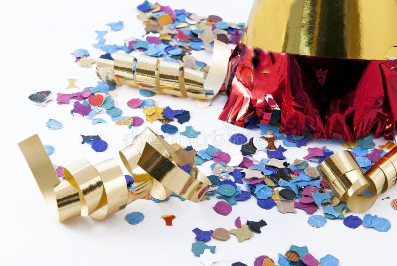 Items del partido imágenes de archivo libres de regalías