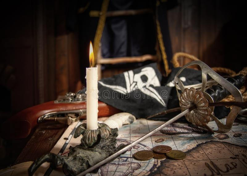 Pirate still life royalty free stock images