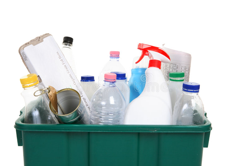 Items for recycling royalty free stock image