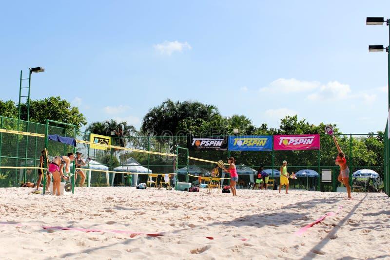 ITF-de competities van het Strandtennis stock foto
