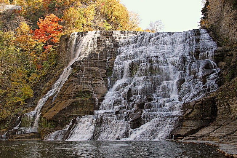 Ithaca cai no outono imagem de stock royalty free