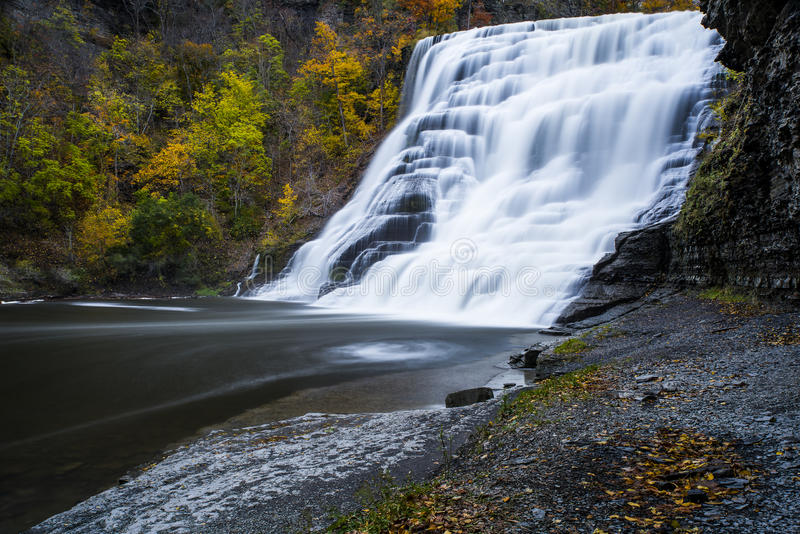 Ithaca Falls - Ithaca, New York arkivbild