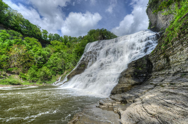 Ithaca Falls New York arkivbilder