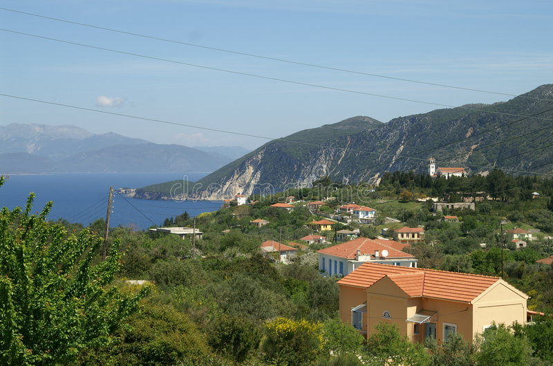 Ithaca - Greece. The island of Ithaca in the Ionian Sea, Greece royalty free stock photos