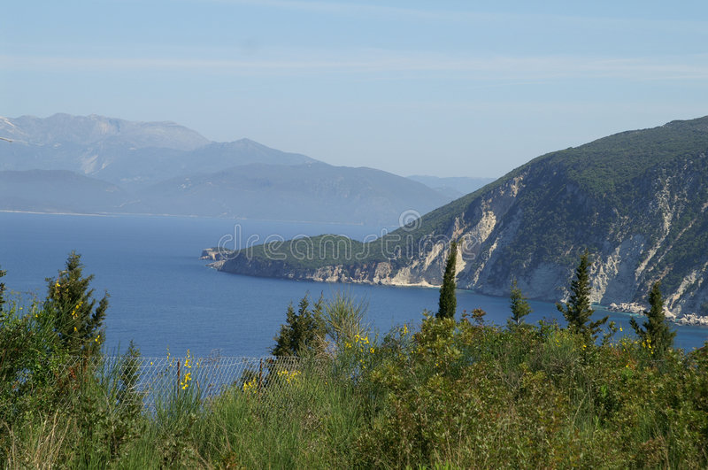 Ithaca - Greece. The island of Ithaca in the Ionian Sea, Greece royalty free stock photo