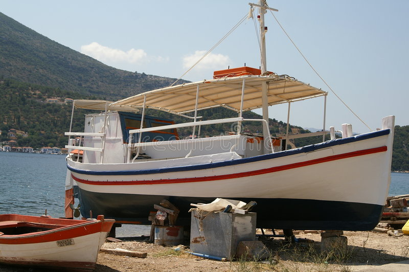 Ithaca - Greece. The island of Ithaca in the Ionian Sea, Greece royalty free stock images