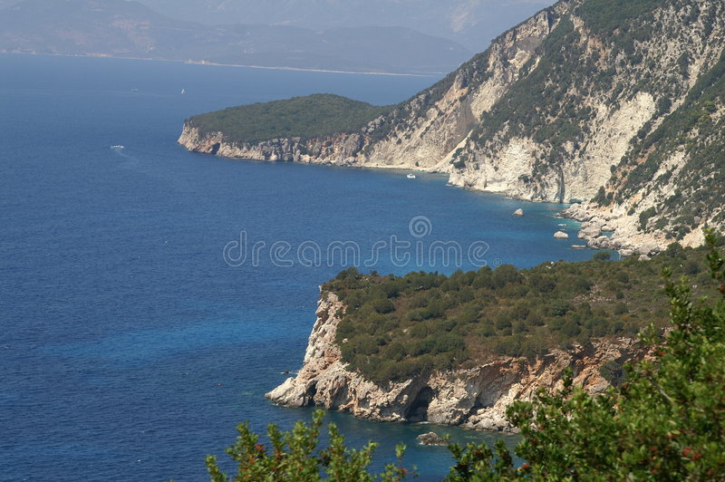 Ithaca - Greece. The island of Ithaca in the Ionian Sea, Greece stock photos