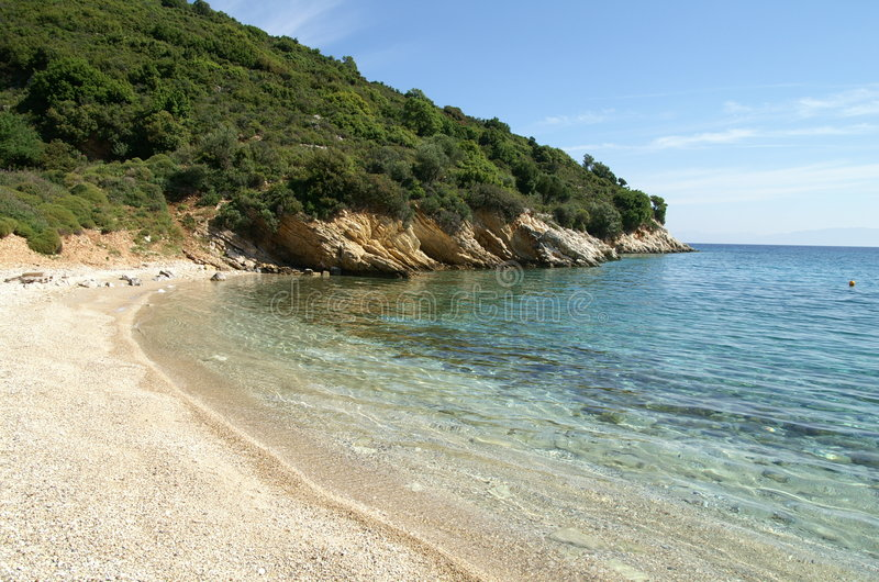 Ithaca - Greece. The island of Ithaca in the Ionian Sea, Greece stock photo
