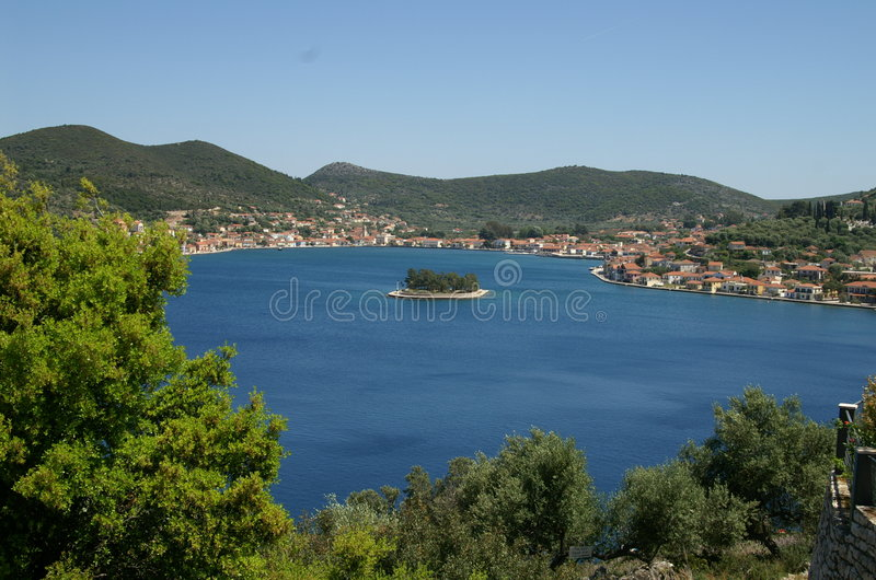 Ithaca - Greece. The island of Ithaca in the Ionian Sea, Greece stock images