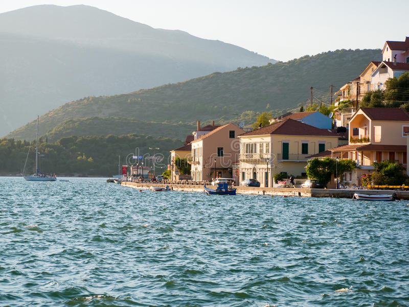 Ithaca island in Greece. Panoramic view of Ithaca island in Greece royalty free stock image