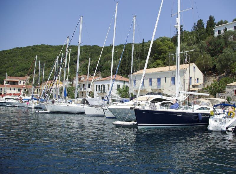 Ithaca - Kioni. The Harbour Kioni in Ithaca in Ionia sea royalty free stock photo
