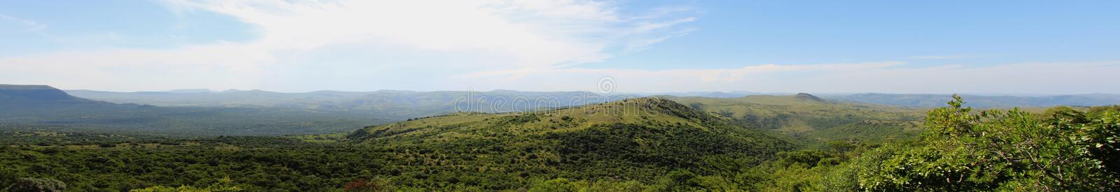 Ithala Game Reserve Panorama. A Panorama of the Hills of Ithala Game Reserve in Kwa-Zulu Natal stock photography