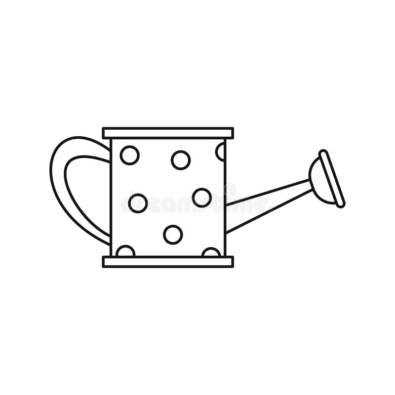 IThe watering can icon, outline style royalty free illustration