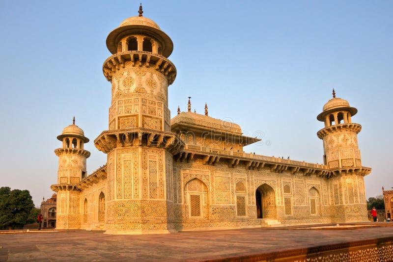 Itimad -itimad-ud-daulah bij zonsondergang, Agra, Uttar Pradesh, I royalty-vrije stock foto's