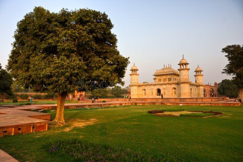 Itimad-ud-daulah at sunset, Agra, Uttar Pradesh, I stock photography