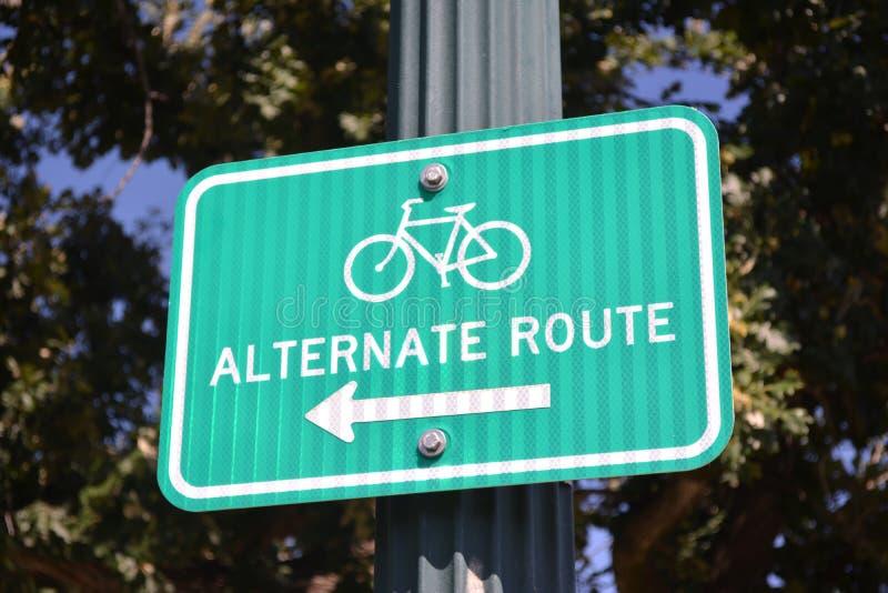Itinéraire alternatif de bicyclette image libre de droits