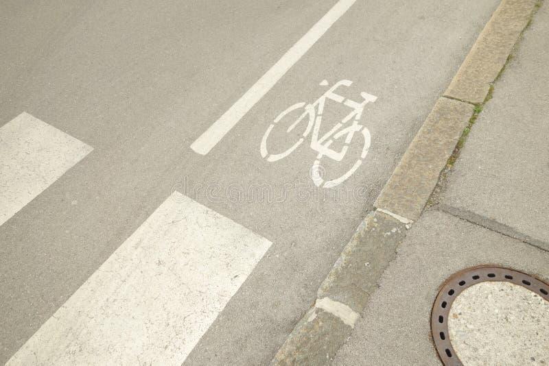 Itinéraire de vélo de Cyclopath photographie stock