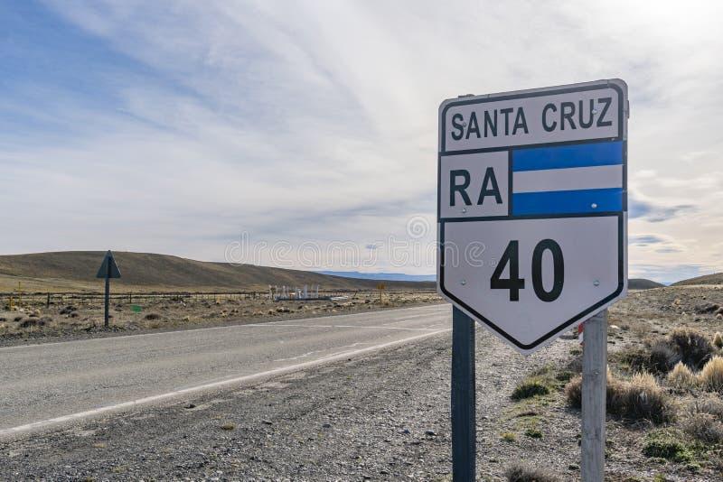 Itinéraire 40 en Argentine image libre de droits