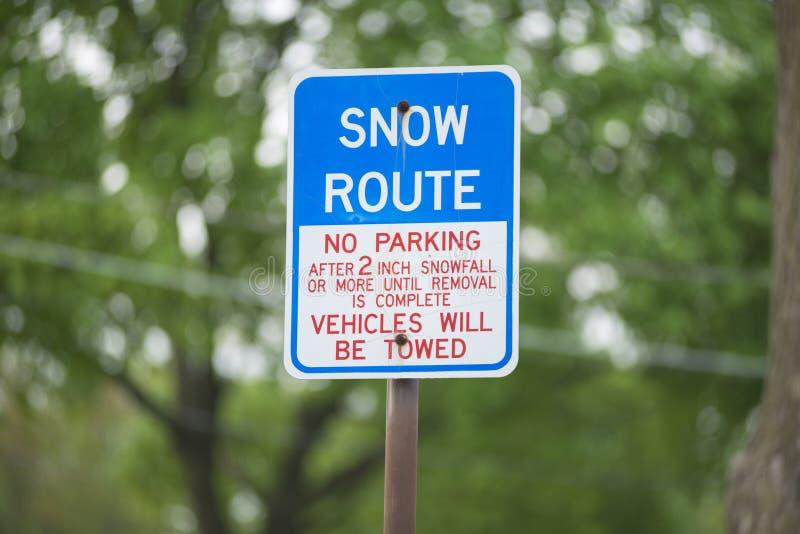 Itin?raire de neige photographie stock libre de droits