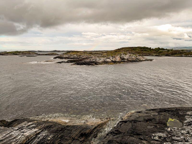 Itin?raire sc?nique national norv?gien Attraction touristique photos libres de droits