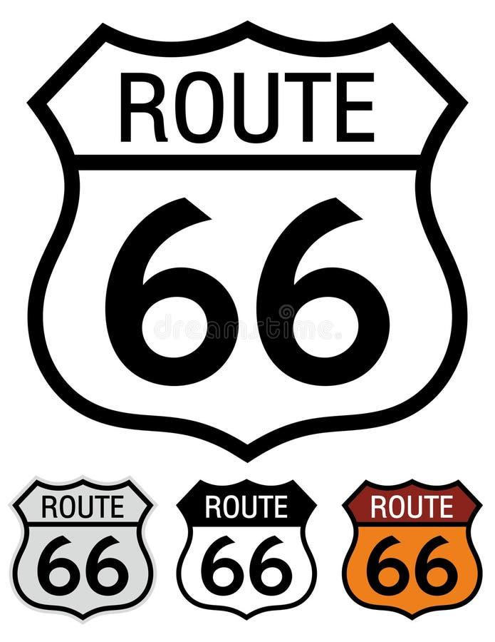 Itinerario 66 illustrazione vettoriale