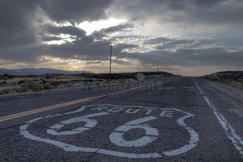 Itinerario 66 fotografie stock libere da diritti
