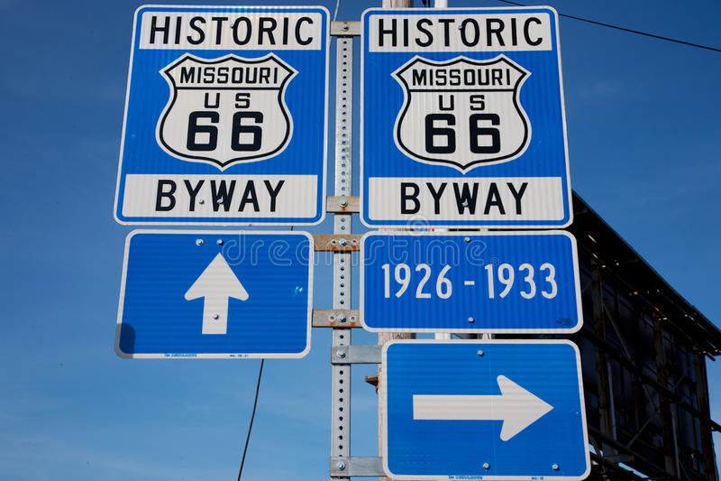 Itinerario 66 immagine stock