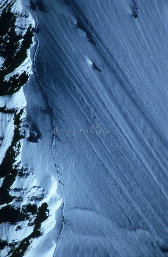 Itinerario clasic del nord su Khan Tengri fotografie stock libere da diritti