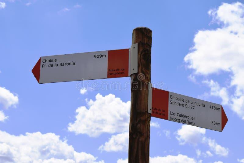 Itinerario di camminata Culilla del cartello immagine stock libera da diritti