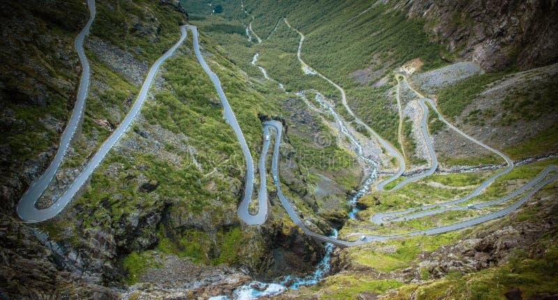Itinerario famoso di Trollstigen fotografie stock libere da diritti