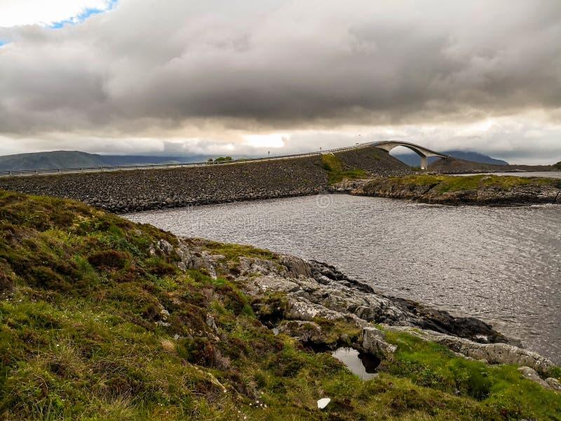 Itinerario scenico nazionale norvegese Attrazione turistica fotografia stock libera da diritti