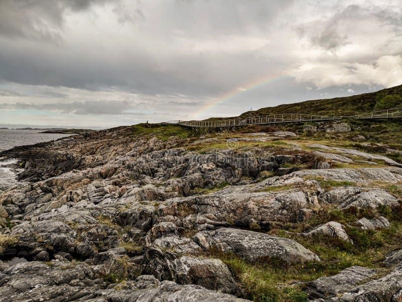 Itinerario scenico nazionale norvegese Attrazione turistica immagine stock libera da diritti
