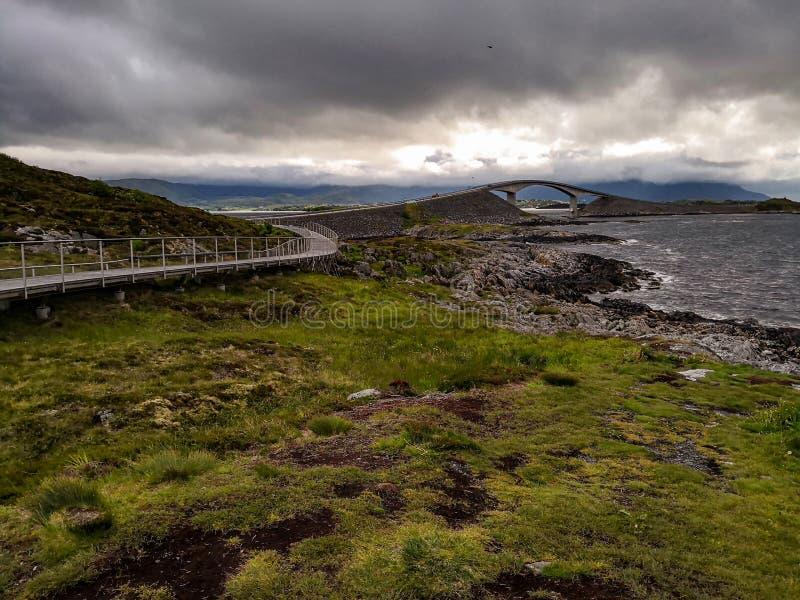 Itinerario scenico nazionale norvegese Attrazione turistica fotografie stock