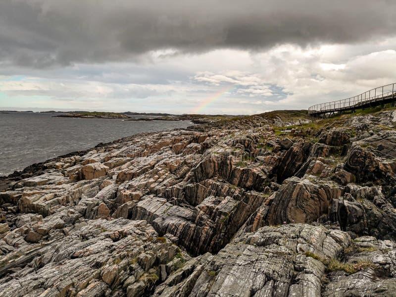 Itinerario scenico nazionale norvegese Attrazione turistica immagini stock