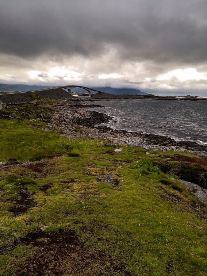 Itinerario scenico nazionale norvegese Attrazione turistica immagine stock