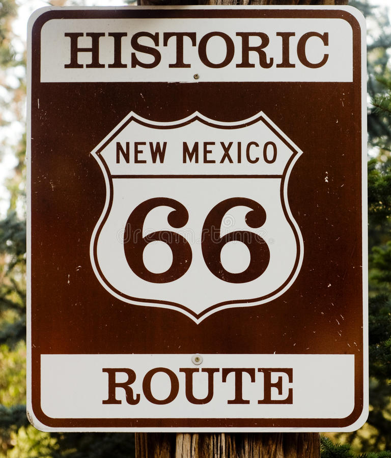 Itinerario storico 66 negli S.U.A. fotografie stock