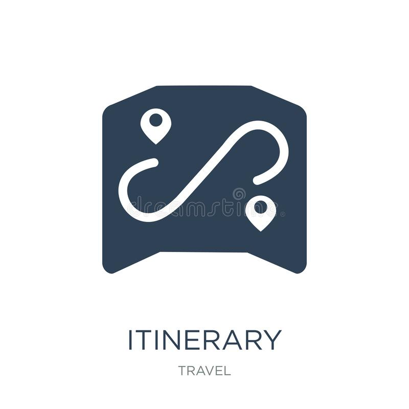 itinerary icon in trendy design style. itinerary icon isolated on white background. itinerary vector icon simple and modern flat stock illustration