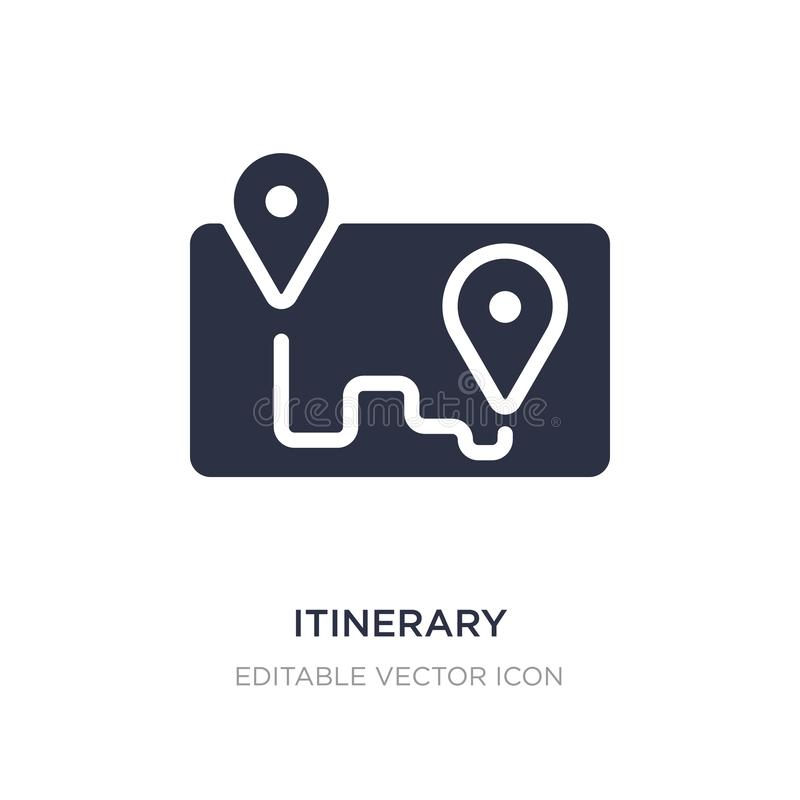 Itinerary icon on white background. Simple element illustration from Travel concept. Itinerary icon symbol design vector illustration
