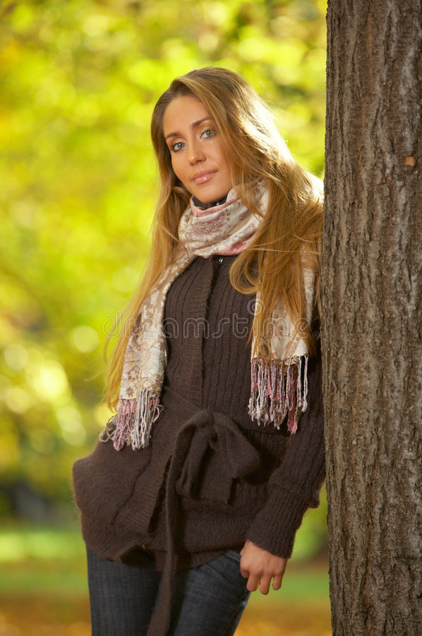 Download Its Autumn! 2 stock photo. Image of health, meadow, blond - 3314200