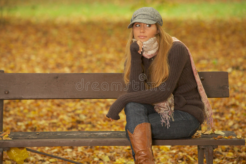 Download Its Autumn! 2 stock photo. Image of leasure, jeans, meadow - 3314222