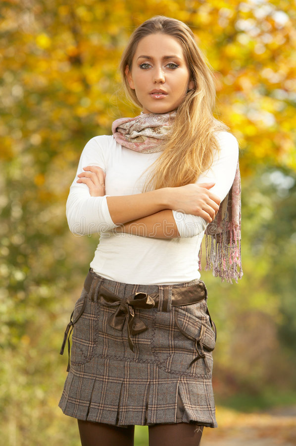 Download Its Autumn! stock photo. Image of jeans, grass, lifestyle - 3482000