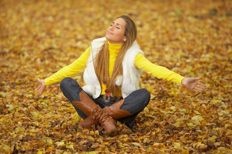 Download Its Autumn! stock photo. Image of golden, blond, woolen - 6387600
