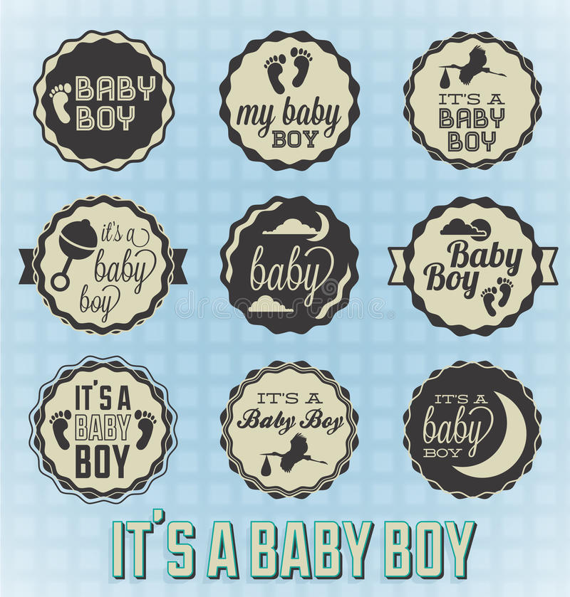 Download Its A Baby Boy Labels And Icons Stock Photos - Image: 29606983