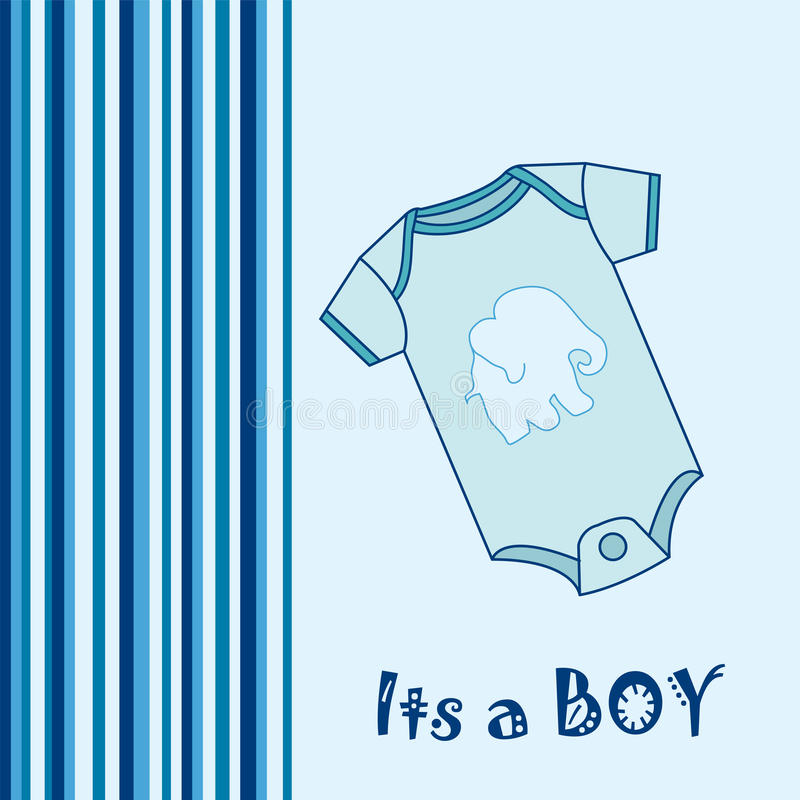 Its a Boy!. Baby Boy Arrival announcement greeting card vector illustration