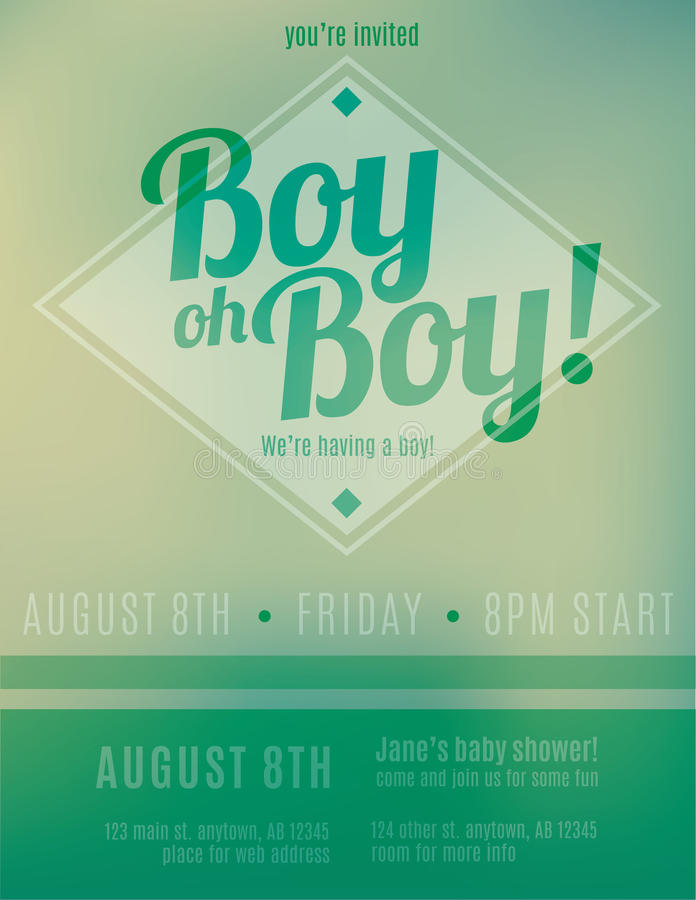 Its A Boy Birth Announcement Flyer Template Stock Vector - Electronic birth announcement template