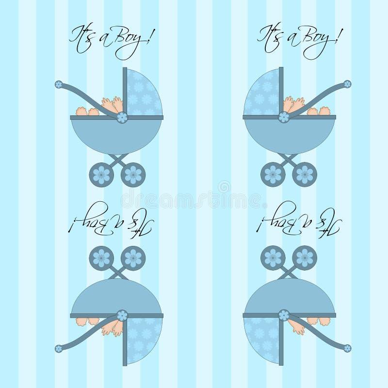 Download Its A Boy Blue Baby Pram  Seamless Tile Background Stock Illustration - Image: 22028353