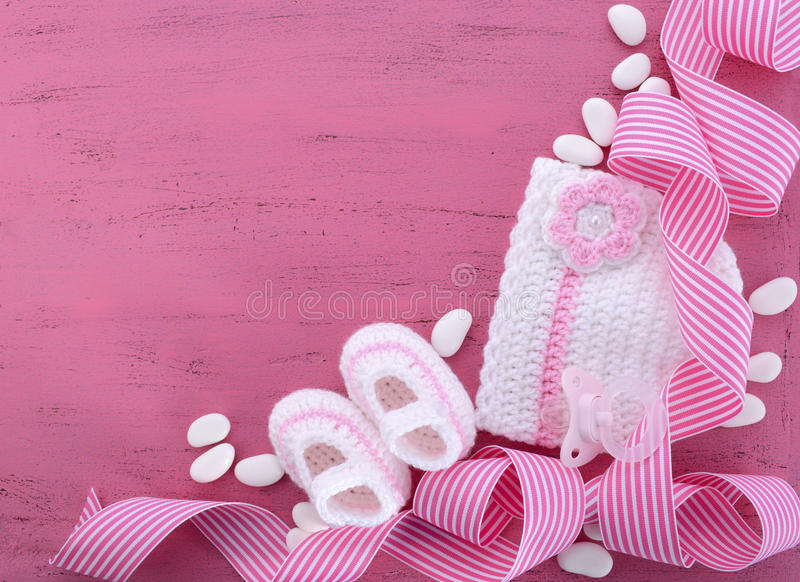 Download Its A Girl Baby Shower Or Nursery Background Stock Photo   Image  Of Infant,