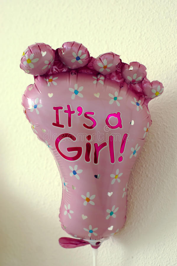 Download Its a girl balloon stock photo. Image of foot, joyful - 11754200