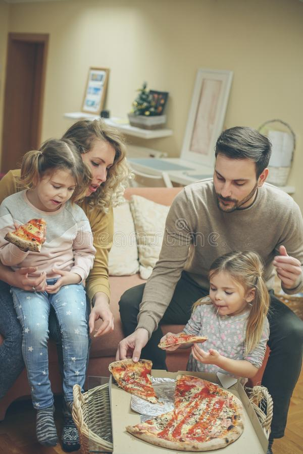 Its time for pizza. stock photo